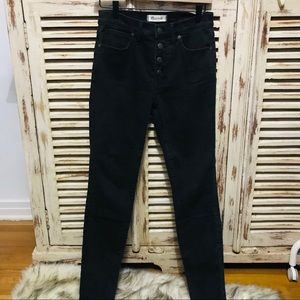 "Madewell 9"" High-Rise Skinny Jeans With Button Fly"